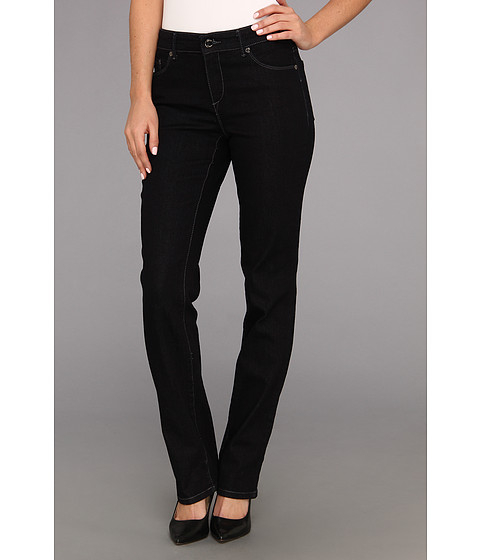 Blugi Anne Klein New York - Lion Slim Straight Bling On Back Pocket in Dark Rinse Wash - Dark Rinse Wash