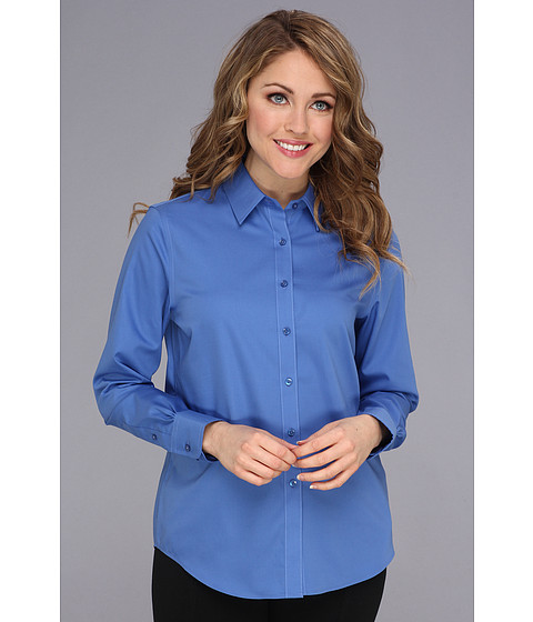 Camasi Jones New York - Basic Shirt w/ Pleats at Cuff - French Blue