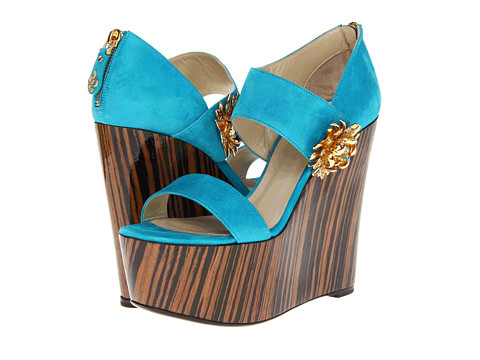 Sandale Roberto Cavalli - Suede Wedge - Turquoise