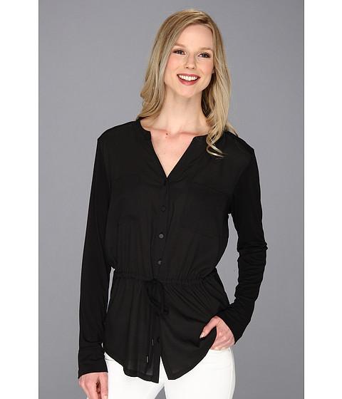 Bluze Calvin Klein - Drawstring Rayon Spandex Top - Black