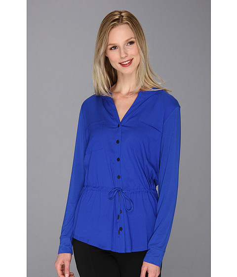 Bluze Calvin Klein - Drawstring Rayon Spandex Top - Celestial