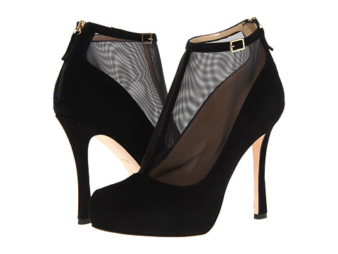 Pantofi Kate Spade New York - Neveah - Black Suede/Black Mesh