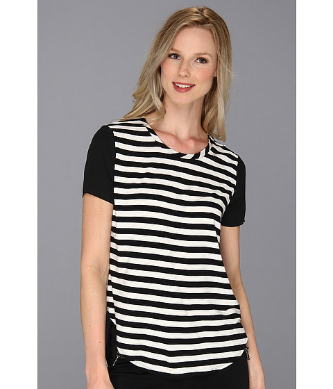 Bluze Vince Camuto - Woven Back Stripe Tee - New Ivory
