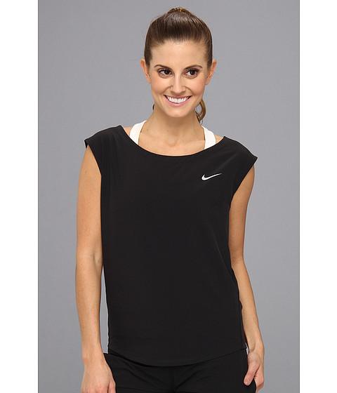 """Bluze Nike - Dri-Fitâ""""¢ Woven Tank - Black/Matte Silver"""