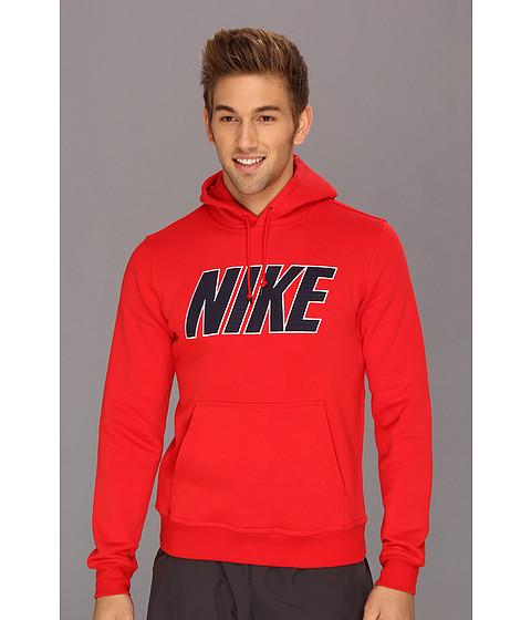 Bluze Nike - Block Mesh Hoodie - University Red/Navy
