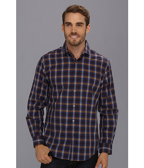 Camasi Perry Ellis - Even Ombre Plaid L/S Shirt - Plum