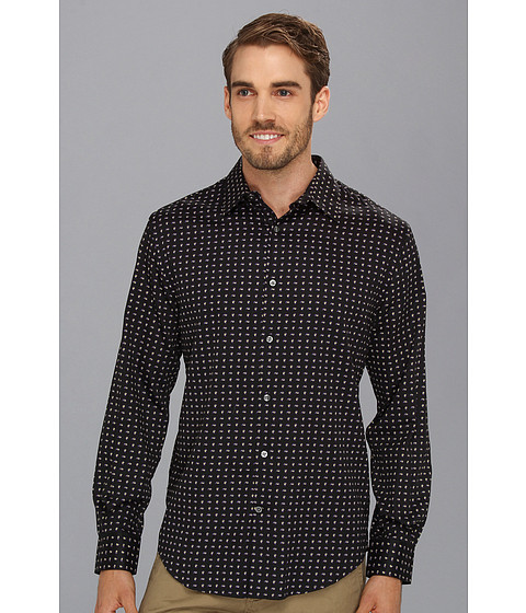 Camasi Perry Ellis - Paisley Print Foulard L/S Shirt - Black