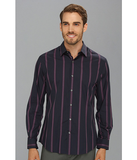 Camasi Perry Ellis - Twist Stripe L/S Shirt - Blue Heron
