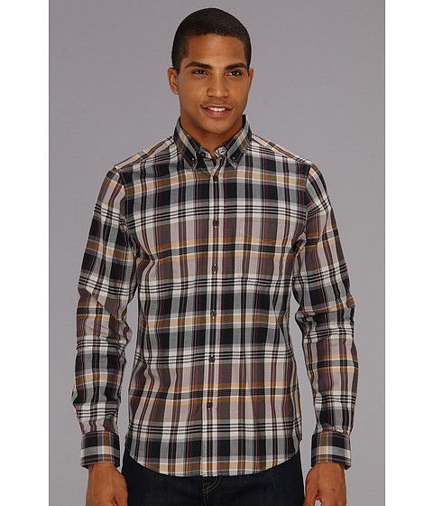 Camasi Ben Sherman - The Iconic Madras Check L/S Shirt - Magnet