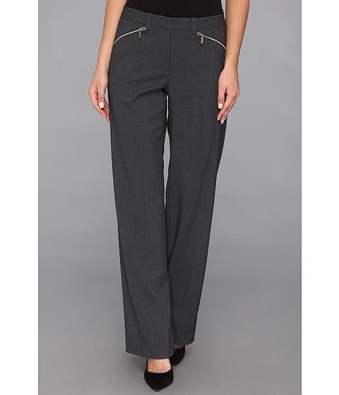 Pantaloni Calvin Klein - Madison Pant Luxe Stretch w/ Zipper - Charcoal