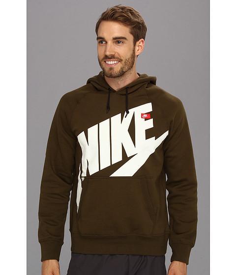 Bluze Nike - AW77 Pullover Hoodie - Exploded Logo - Dark Loden/White