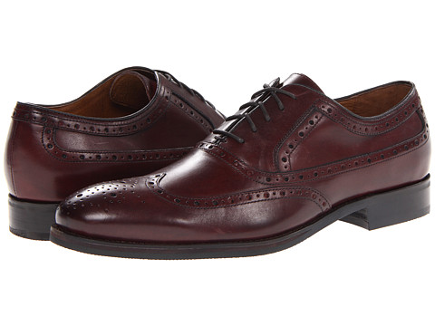 Pantofi Johnston & Murphy - Tyndall Wing Tip - Burgundy Italian Calfskin
