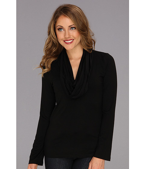 Bluze Karen Kane - Cowl Neck Top - Black
