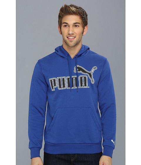 Bluze PUMA - Large Logo Hoodie 827044 - Mazarine Blue/Black Heather