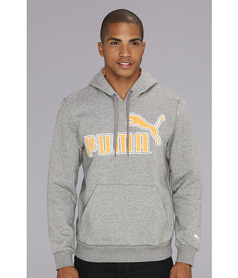 Bluze PUMA - Large Logo Hoodie 827044 - Medium Grey Heather/Zinnia Heather