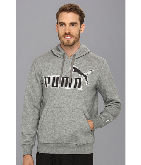 Bluze PUMA - Large Logo Hoodie 827044 - Medium Grey Heather/Black Heather