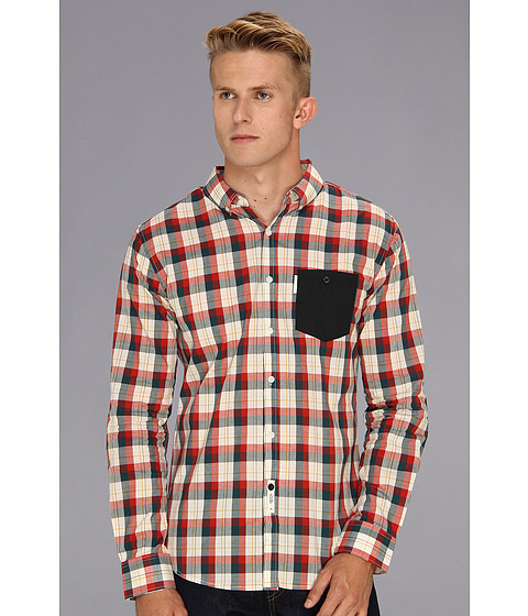 Camasi ECKO - Grand Valley L/S Woven Shirt - True Navy