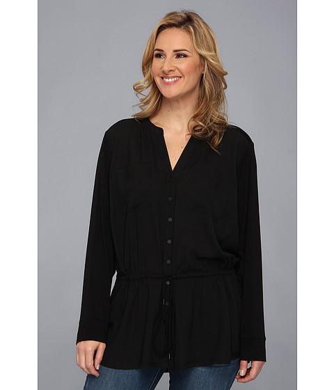 Bluze Calvin Klein - Plus Size Draw String Rayon Spandex Top - Black