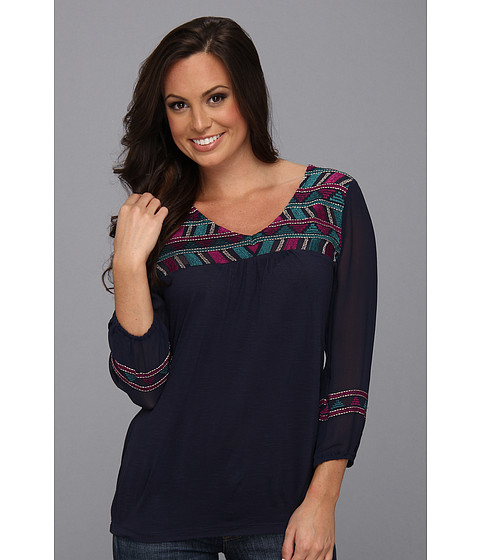 Bluze Lucky Brand - Geo Maybelle Top - American Navy