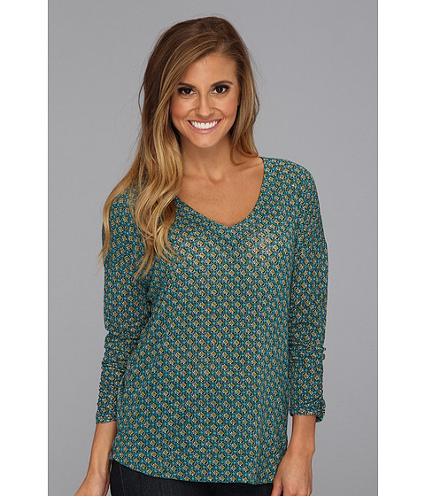 Bluze Lucky Brand - Tie Back Top - Green Multi