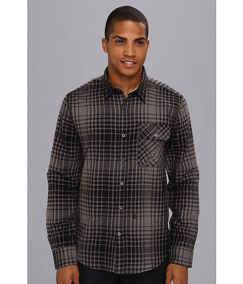 Camasi Volcom - Donner L/S Button Up - Charcoal