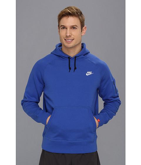 Bluze Nike - AW77 Fleece Pullover Hoodie - Varsity Royal/White