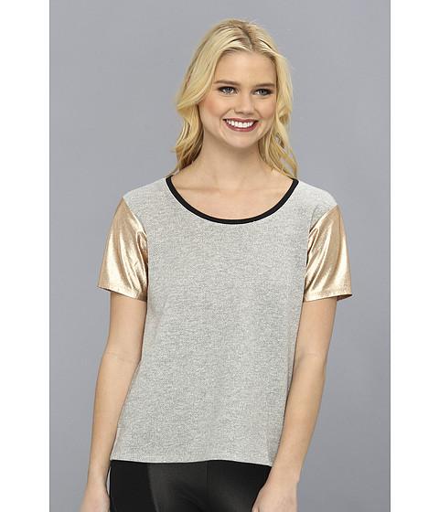 Bluze BCBGeneration - Metallic Sleeve Sweatshirt Tee - Heather Grey