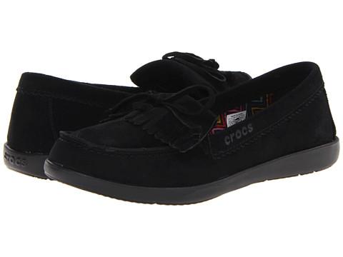 Pantofi Crocs - Suede Moccasin - Black/Black