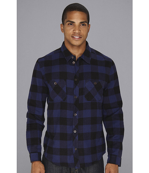 Camasi Alternative Apparel - Timbers Button Up - Cambridge Blue Buffalo Plaid