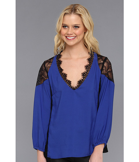 Bluze Nanette Lepore - Sweet Memories Top - Cobalt/Black