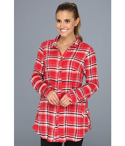 "Camasi Columbia - Checked Tunicâ""¢ - Red Hibiscus Plaid"