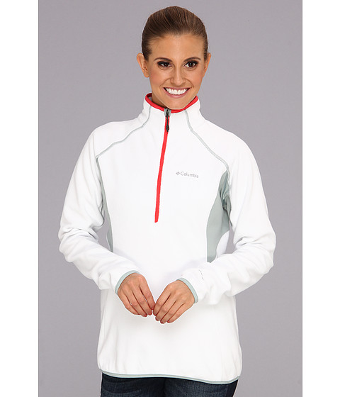 "Bluze Columbia - Heat 360â""¢ III 1/2 Zip - White/Niagra/Red Hibiscus"