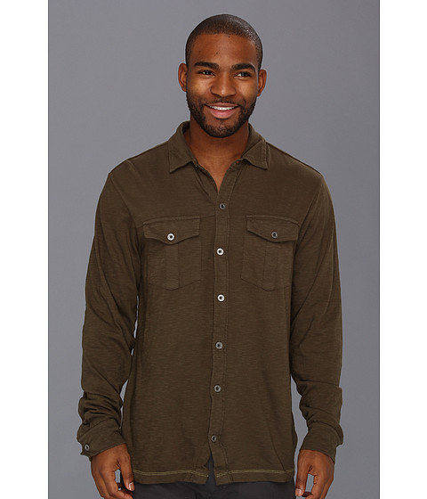 Camasi Prana - Hayes L/S Button Down - Cargo Green