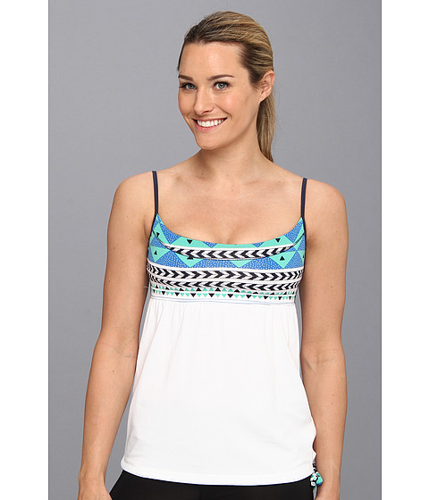 Bluze Carve Designs - Caeli Tank - Indigo Tulum with White