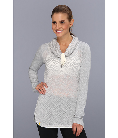 Bluze Lole - Sheer 2 Top - Light Grey Heather Chevron