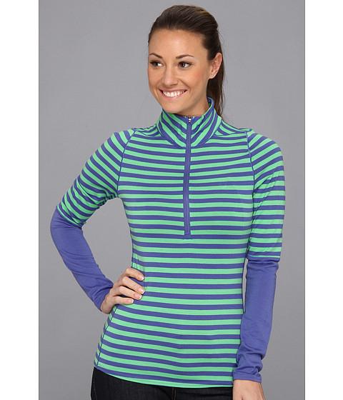 Bluze Patagonia - Merino 3 Midweight Zip Neck - Pearson Stripe/Marathon Blue