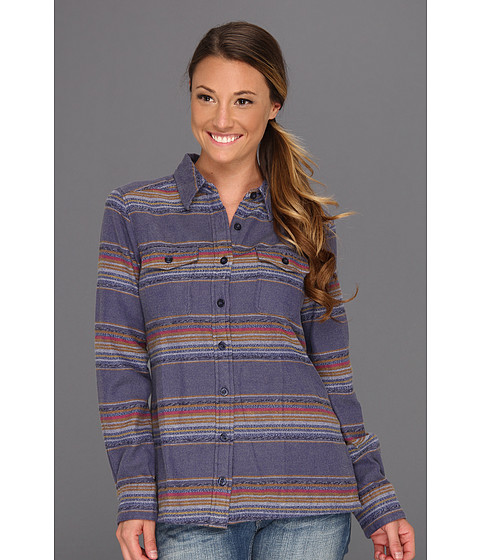 Camasi Patagonia - L/S Fjord Flannel Shirt - Gaucho Stripe/Blue Butterfly
