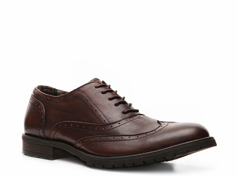 Pantofi Bed Stu - Lather Wingtip Oxford - Brown