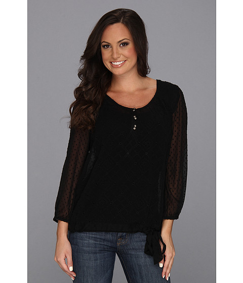Bluze Lucky Brand - Agate Eyelet Top - Lucky Black