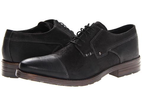 Pantofi Clarks - Denton Cap - Black Leaher