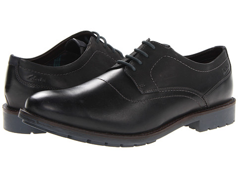 Pantofi Clarks - Garnet Walk - Black Leather