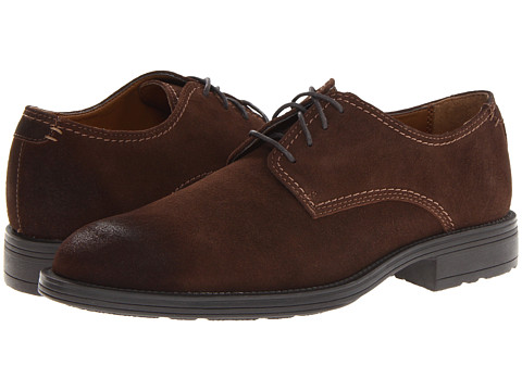 Pantofi Hush Puppies - Plane Oxford PL - Dark Brown Suede