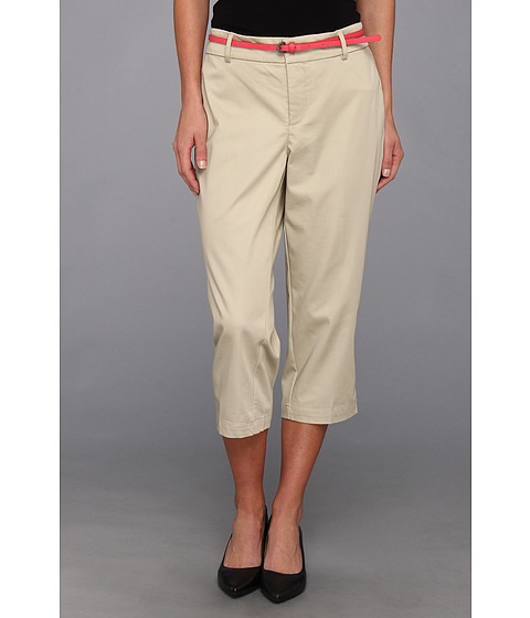 Pantaloni Dockers - Belted Capri w/ Hello Smooth - Solid - Feather
