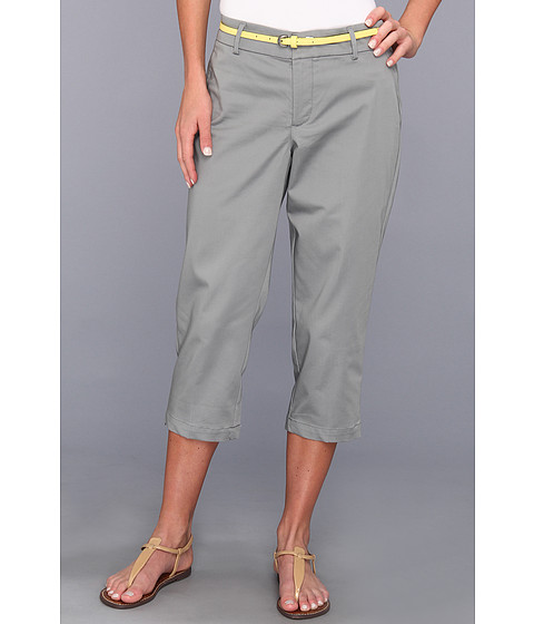 Pantaloni Dockers - Belted Capri w/ Hello Smooth - Solid - Neutral Gr