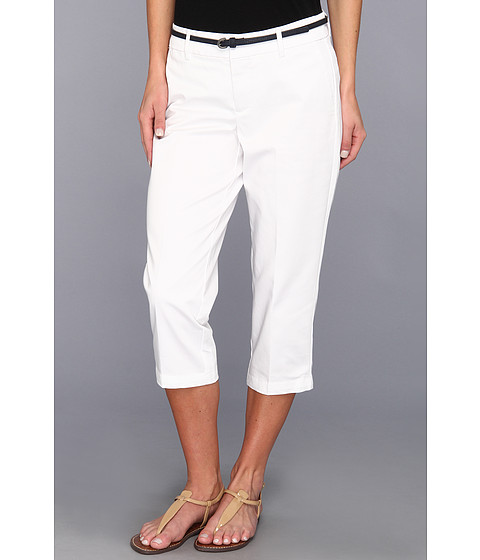 Pantaloni Dockers - Belted Capri w/ Hello Smooth - Solid - Paper White
