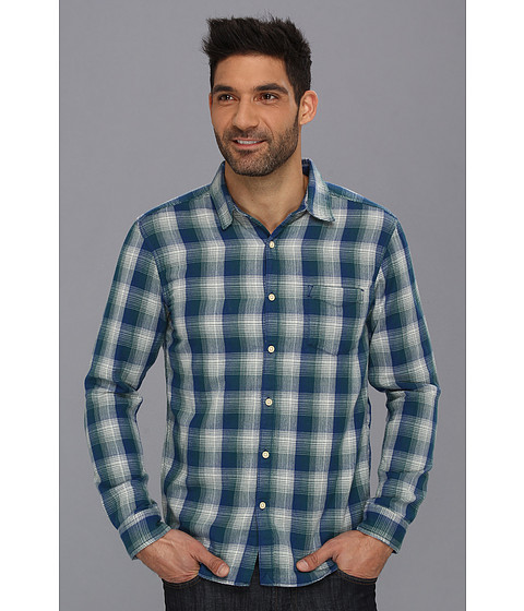 Camasi Lucky Brand - Whistler Plaid One Pocket Shirt - Blue/Green/Natural