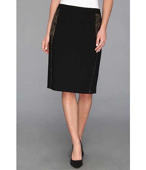 Fuste Calvin Klein - Gold Accent Suit Skirt - Black/Gold