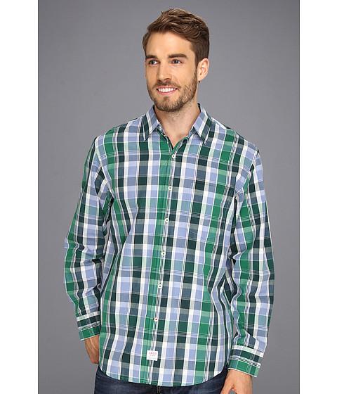 Camasi IZOD - Long Sleeve Vivid Multi-Plaid Button-Down - Verdant Green