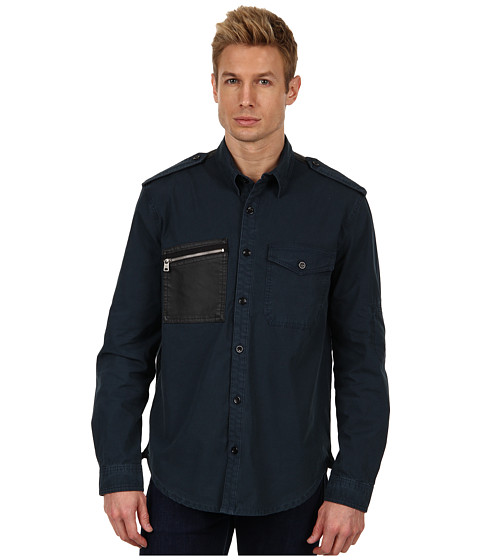 Camasi McQ - Patch Pocket Military Shirt - Petrol
