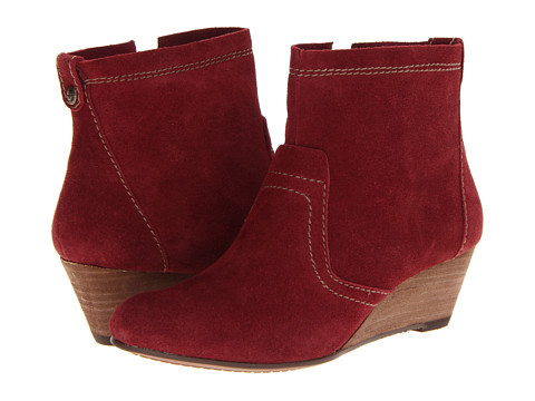 Botine Calvin Klein Jeans - Shayla - Wine Suede Warm Grey Tumbled Leather